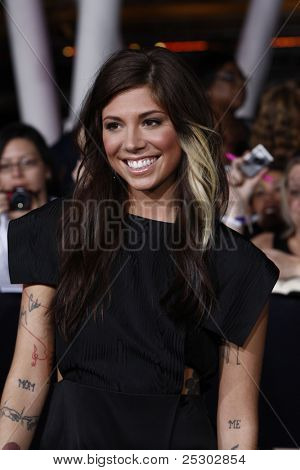 LOS ANGELES - NOV 14: Christina Perri at the World Premiere of 'The Twilight Saga: Breaking Dawn Part 1' held at Nokia Theater L.A. Live on November 14, 2011 in Los Angeles, California