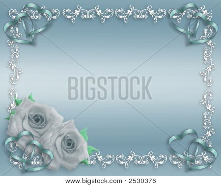 Blue Satin Wedding Roses Or Valentine