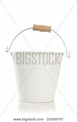 small decorative white bucket