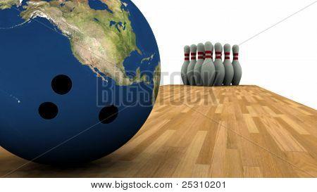 Earth Bowling!