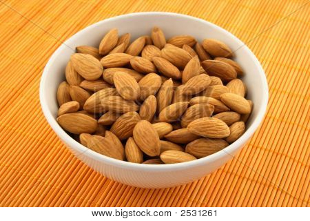 Fresh Almonds In A Bowl