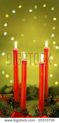 Four Red Candle