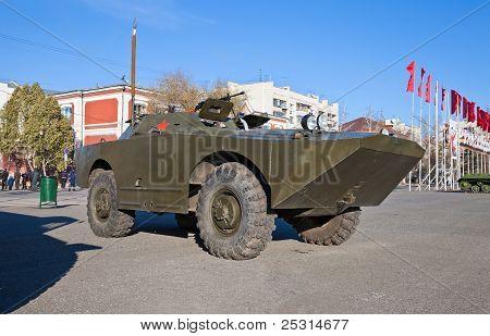Samara, Russia - November 7: Reconnaissance/patrol Vehicle Brdm-1 At The Exhibition On November 7, 2