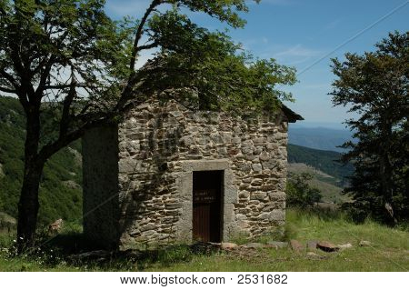 Mountain Cabin Made Of Stones