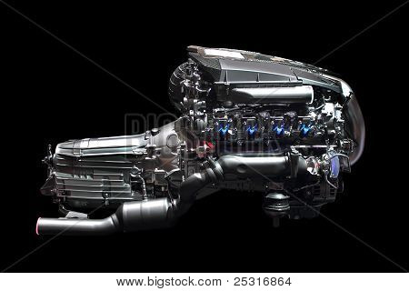 Car Engine Chrome