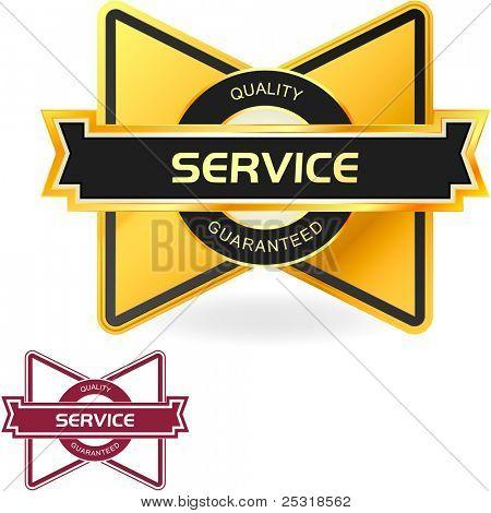 SERVICE. Vektor-Bezeichnung für Verkauf.