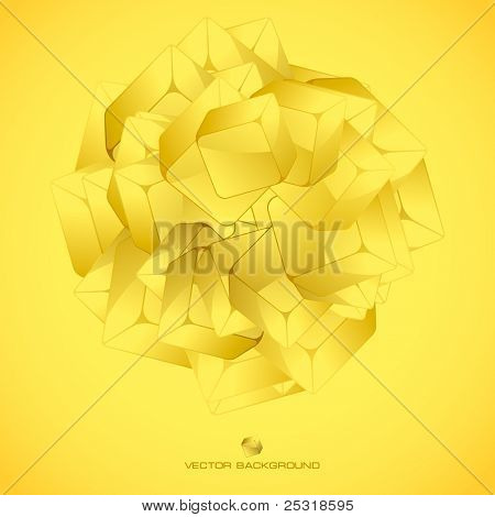 Abstract crystals background.