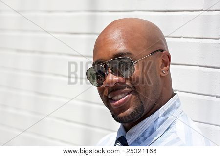 Cheerful Smiling Business Man