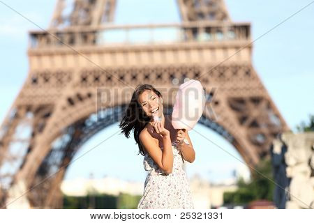 Paris Eiffel Tower Woman