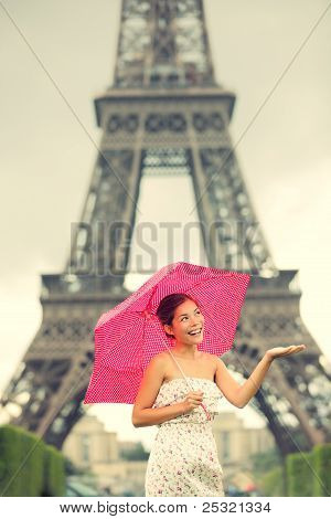 Eiffel Tower Paris Woman
