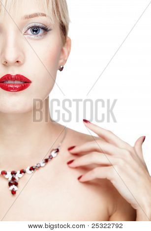 Woman In Necklace
