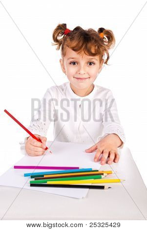Girl Draw Picture