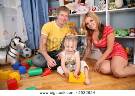 Family In Playroom