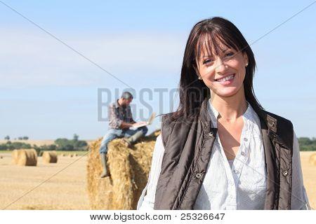 Preparing the haystack.