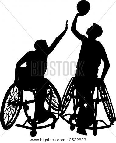 Wheelchair Basketball Silhouette