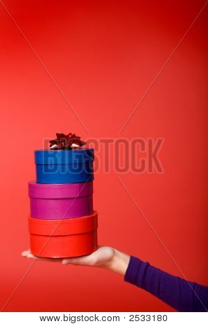 Gift Stack On Red