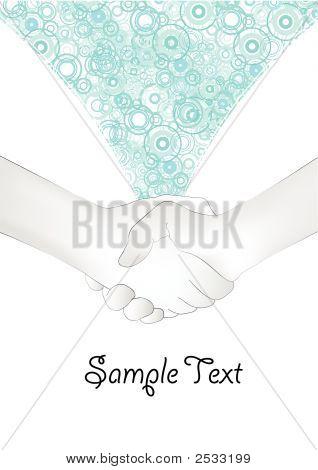 Handshake Illustration In Grunge Modern Style