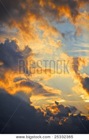 Céu nublado dramática