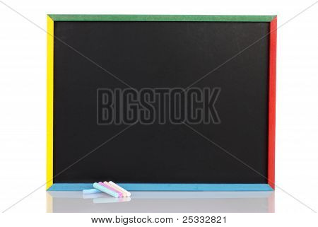 child chalkboard with chalk