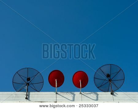 Two Type Satellite Dish
