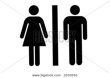 Sinal de casa de banho/WC