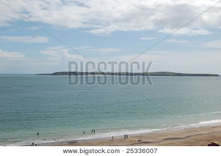 Caldey island from Tenby