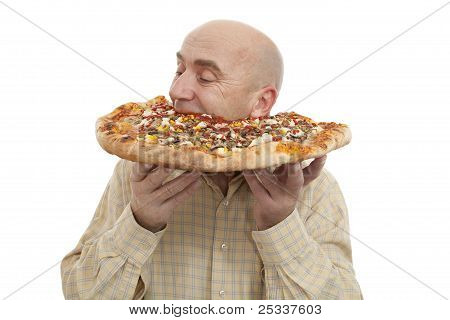 Man Eat Pizza