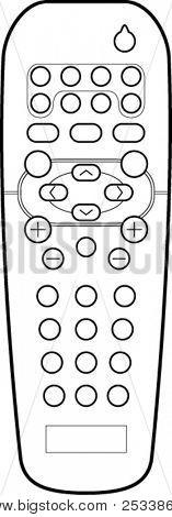 remote control line art