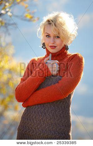 Beautiful Blonde Outdoor