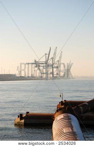 Dredging In The Port Of Antwerp