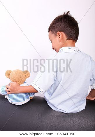 Boy And Teddy Bear