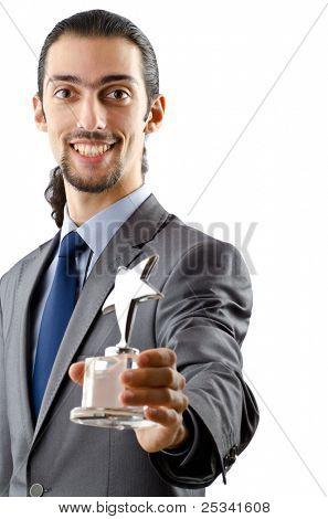 Empresario recibe premio estrella en blanco