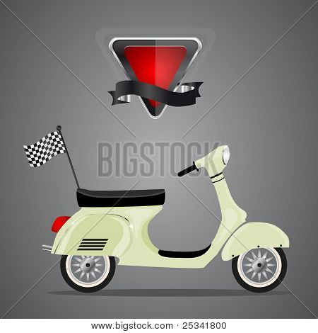 Scooter Retro, vector
