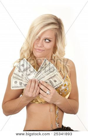 Woman Greed Genie Money