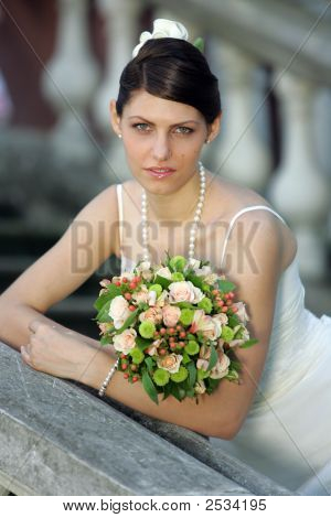 Portrait Of A Bride In White