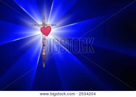 Cross, Heart And Divine Light