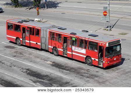 Volvo Bus In Stockholm