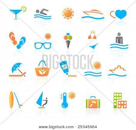 Iconos de recreación y viajes