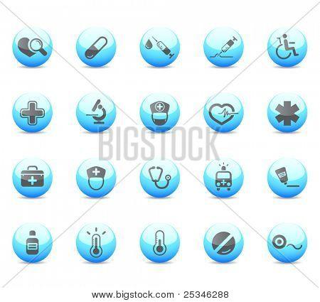 Los iconos brillantes, médica y asistencia médica