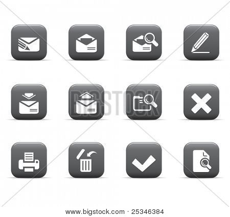 web icons, mail series