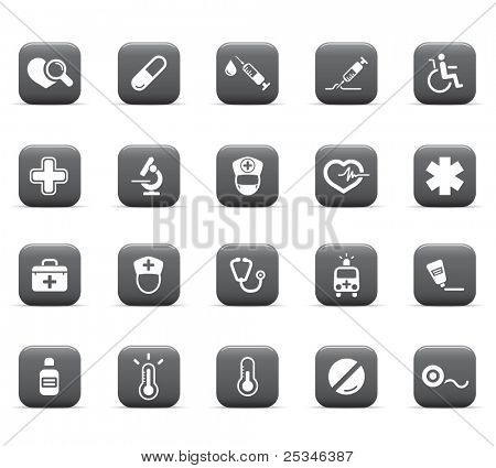 web icons, health care