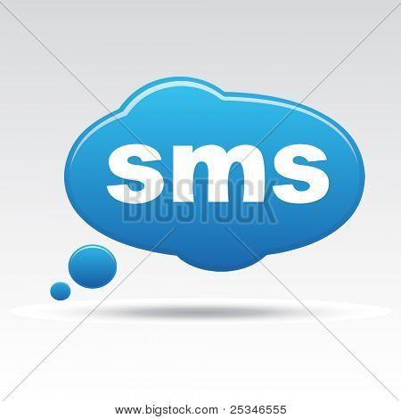 Icono de signo SMS