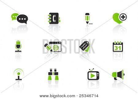 Social and blog icon set