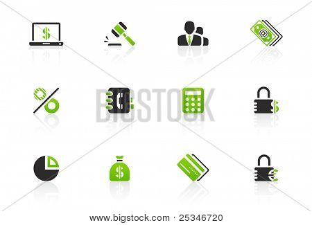 Financial and banking icon set