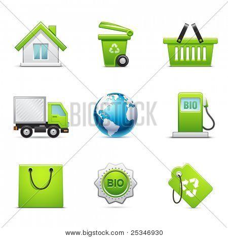 Conjunto de ícones ambientais