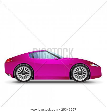 Pink  Sport car icon