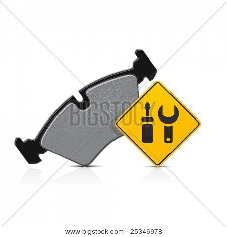 car brake pad service icon