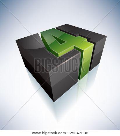 Three-dimensional Number: 4