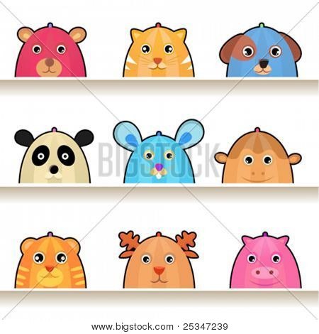 cartoon animal characters