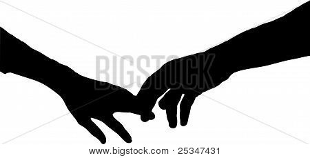 Silhouette Of Hands Holding